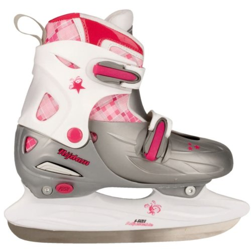 Nijdam Figure Ice Skates Size 30-33 Girl Kids Boots with Blades 3020-ZWR-30-33