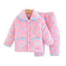 Children Pajamas Warm Thick Cotton Winter Suit Modern Set Sleepwear/Nightwear Clothes for Home, C