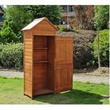 Outsunny Wooden Shed Timber Garden Storage