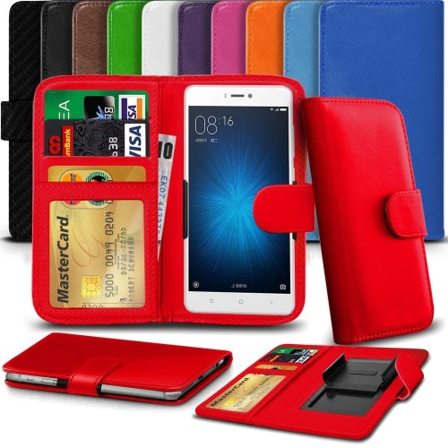 """iTronixs - Acer Liquid Z220 (4"""") High Quality Clamp Style PU Leather Wallet Case Cover"""