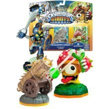 Skylanders Giants Triple Character Pack Chop Chop Shroomboom and Cannon Piece