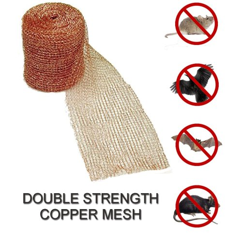 Copper mesh net stop birds mice protect soffits
