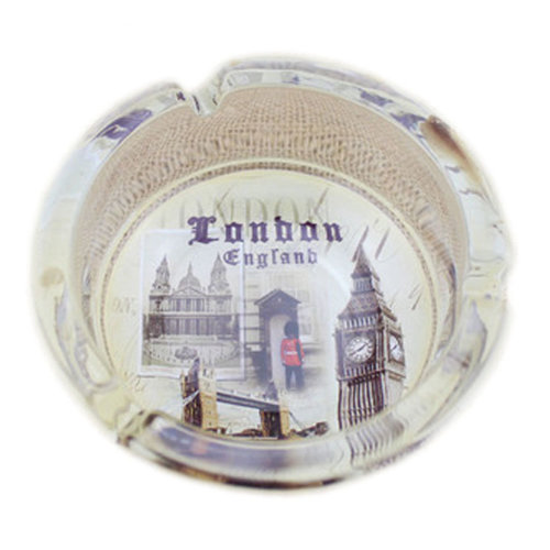Creative Gifts Men's British Style Crystal Glass Ashtray[London Scenery D]