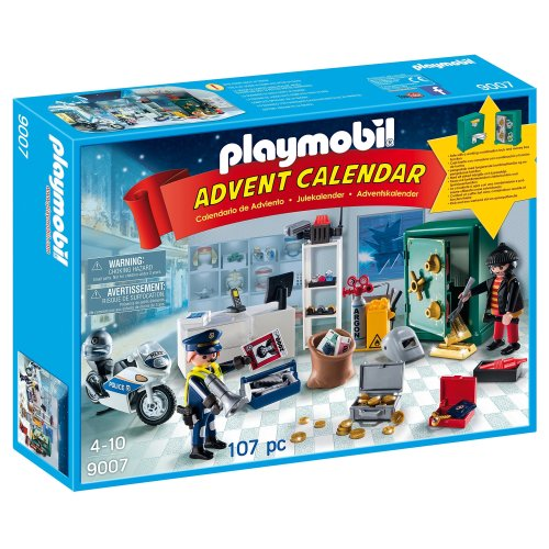 Playmobil Advent Calendar, Jewel Thief Police Operation with Working Safe and Money Box Function
