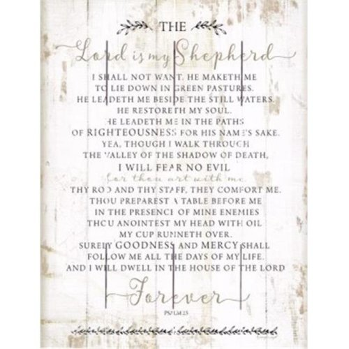 Beechdale Frames 171747 9 x 12 in. The Lord is My Shepherd Rustic Pallet Art