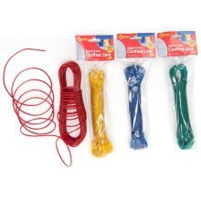 20cm Steel Wire Core Clothes Line - 4 Assorted Colours. - 20 Metres New 1 20m -  steel core clothes line 20 metres new 1 20m