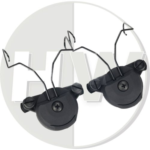Airsoft Fma Ussf Bump Helmet Rail Adapters Set Black For Sordin Headset