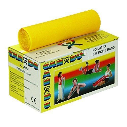 Cando No Latex Exercise Band 6 yrds Yellow - X-Light