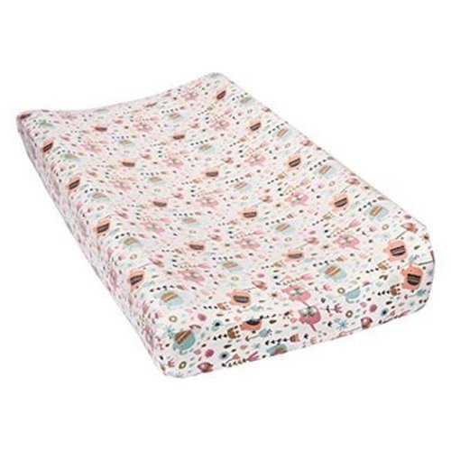 TrendLab 101388 Playful Elephants Deluxe Flannel Changing Pad Cover