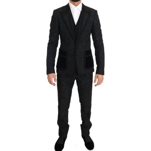 Dolce & Gabbana Black Torrero Slim 3 Piece One Button Suit