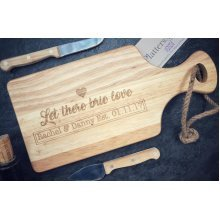 Personalised Small Wooden Paddle Board And Cheeseboard