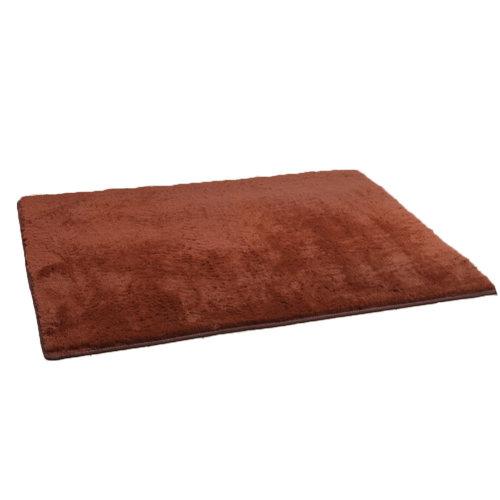 Elegent Machine Washable Non-slip Doormats,Bedroom Carpet, Brown, 40*60CM