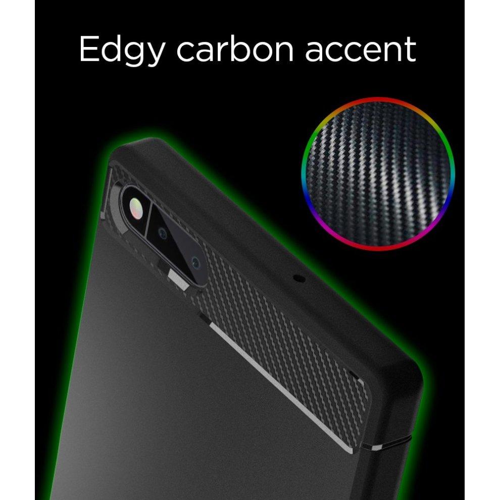 promo code f4f54 53d1d Razer Phone Case, Spigen [Rugged Armor] [Black] Original Patent Carbon  Fiber Design Flexible Slim TPU Perfect Grip Ultimate Protection for Razer...