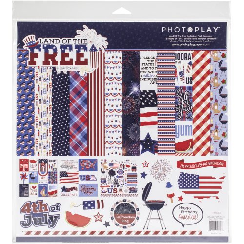 """Photoplay Collection Pack 12""""X12""""-Land Of The Free"""