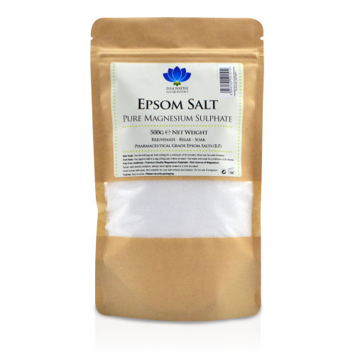 Roll over image to zoom in Epsom Salt - 100% Pure - Relaxing Bath Salt - Pharmaceutical Grade - 500g Packet