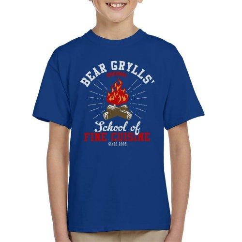 Bear Grylls School Of Fine Cuisine Kid's T-Shirt