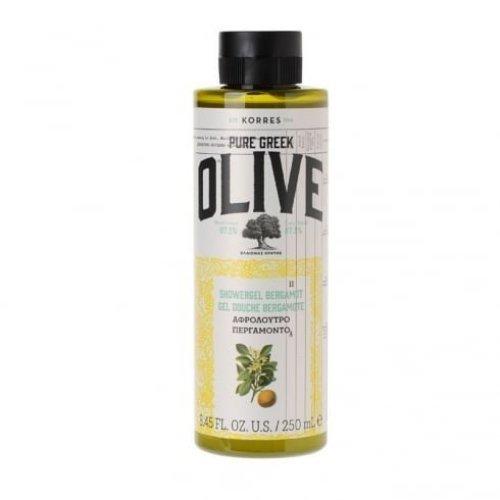 KORRES Pure Greek Olive Natural Olive Bergamot Shower Gel, Vegan