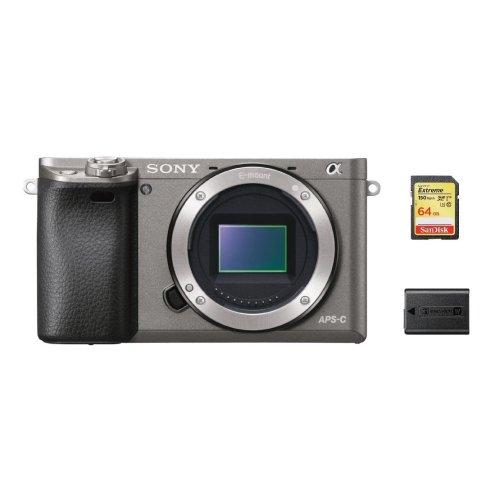 SONY A6000 Body Grey + 64GB SD card + NP-FW50 Battery