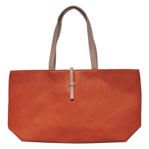 Art Fashions of Europe M-8013 BLUE 14 x 6 x 13 in. Fancy Zipper Handbags, Red