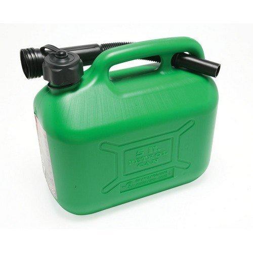 Hilka 84809015 Plastic 5L Fuel Can Green