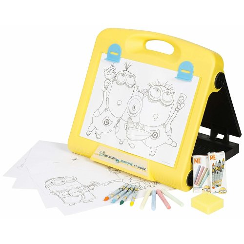 Minions Despicable ME Travel Art Easel Craft Kit