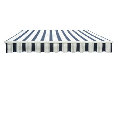 Outsunny 3.5 x 2.5 m Garden Patio Manual Awning Canopy Sunshade Shelter - Blue/White