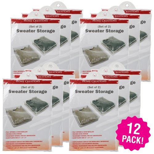 """Innovative Home Creations Sweater Storage Bags 2Pc 12/Pk-12""""X14""""X3"""""""
