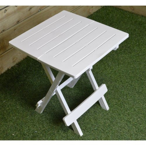 Garden / Camping Plastic Folding Table Easy Storage Caravanning White