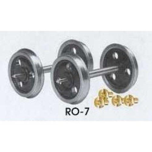 O gauge 3 Hole Disc Wheels & Bearings - Peco RO-7 - F1