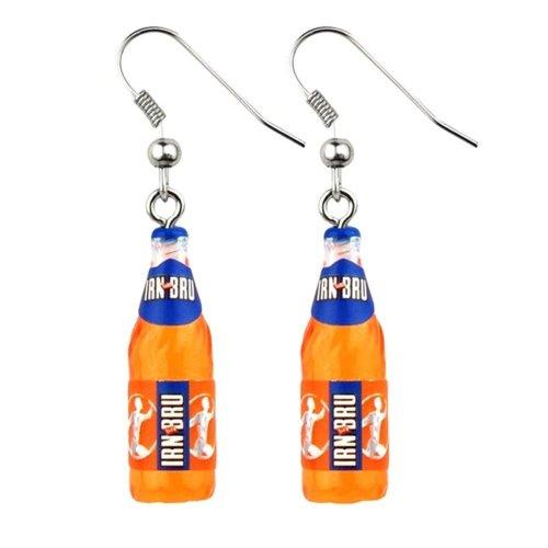 Irn Bru Bottle Resin Drop Earrings