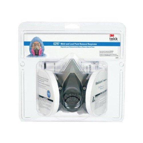3M 34-8708-8287-4 Mold & Lead Paint Removal Respirator, Medium