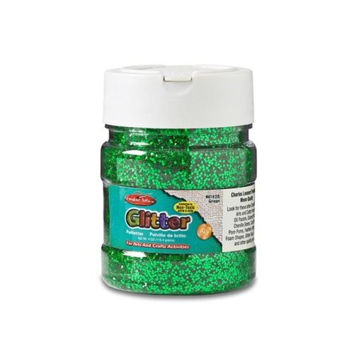 Charles Leonard CHL41425BN 4 oz Glitter Jar, Green - Pack of 6