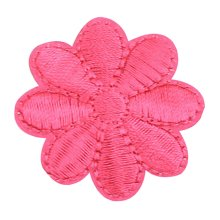 12PCS Embroidered Fabric Patches Sticker Iron Sew On Applique [Flower Rosered]