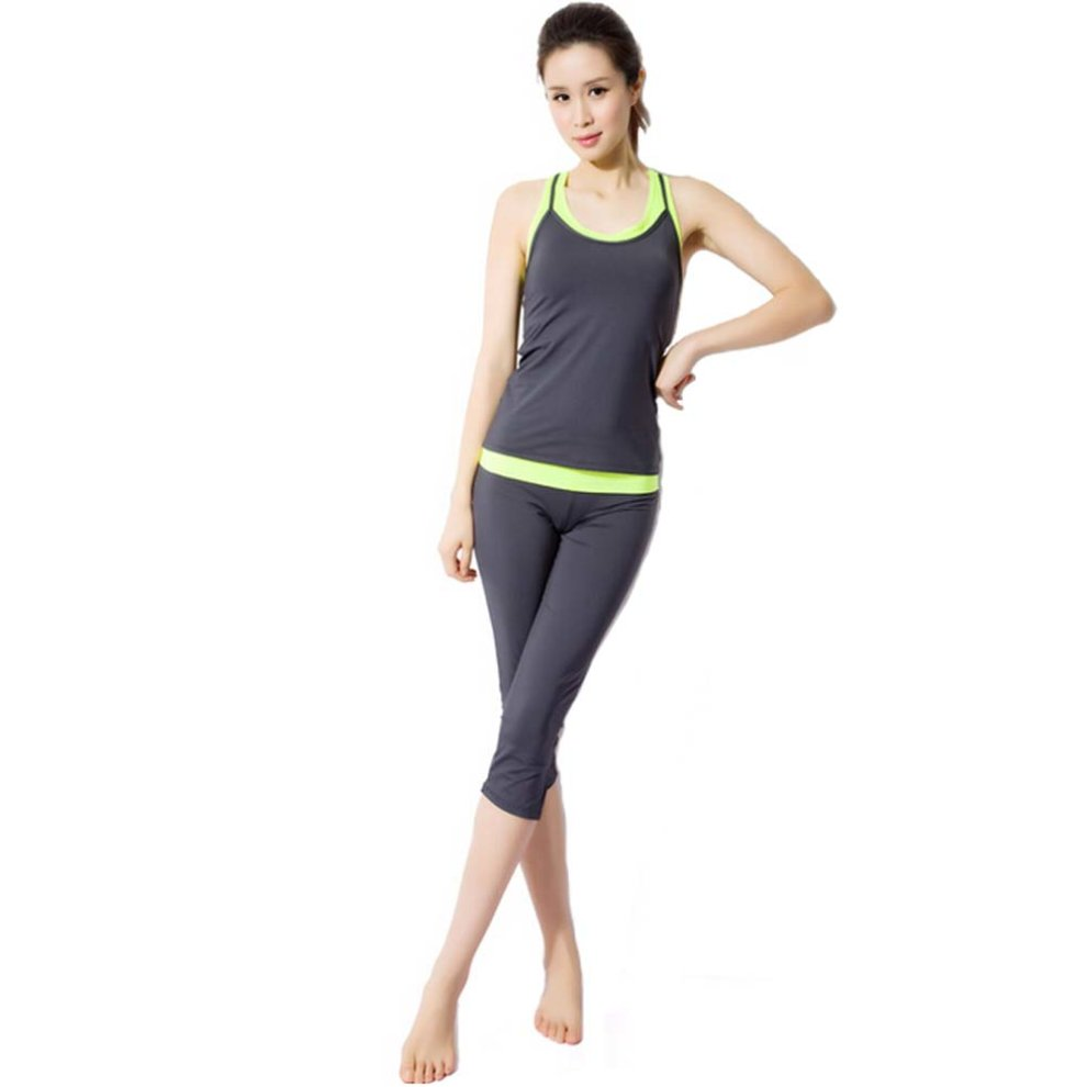 bd33a1c9e30f Gray Sexy Yoga Apparel Sexy Yoga Pant Gym Clothes Dance Outfit Fitness Suit  on OnBuy