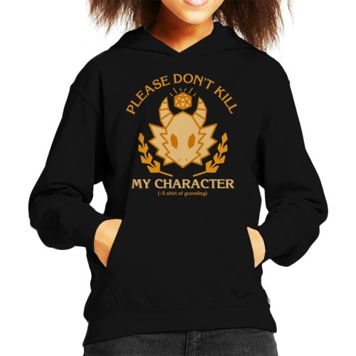 Dungeons And Dragons Grovelling Shirt Kid's Hooded Sweatshirt