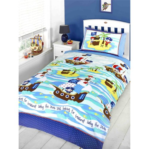 Ship Ahoy Pirates Treasure Junior/Cot Bed Duvet Cover Set - 120cm x 150cm