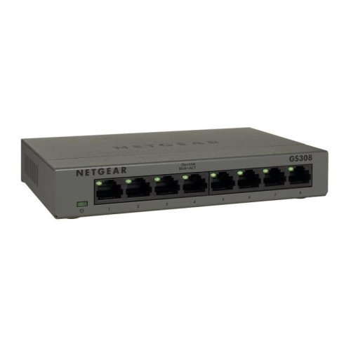 Netgear GS308 Gigabit Ethernet (10/100/1000) Grey