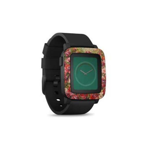 DecalGirl PSWT-FLEUSAUV Pebble Time Smart Watch Skin - Fleurs Sauvages