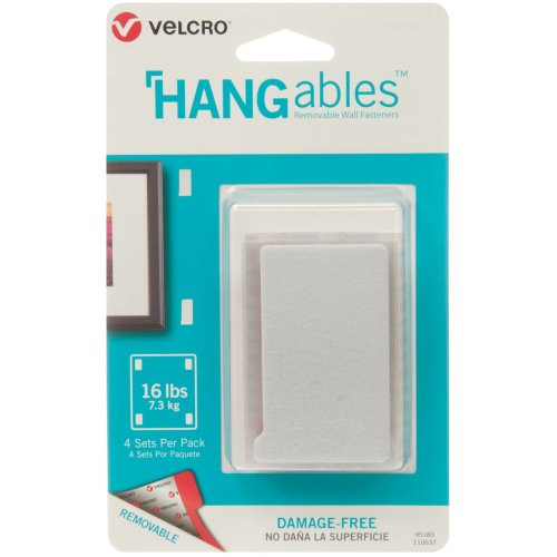 """Velcro(R) Brand HANGables Removable Wall Fasteners 3""""X1.75""""-4/Pkg, Holds Up To 16lbs"""