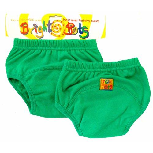 Bright Bots 2pk Washable Training Pants Green