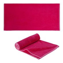 100% Cotton Beach Towel Bath Travel Sports Towels Soft & Absorbent - Rose Red