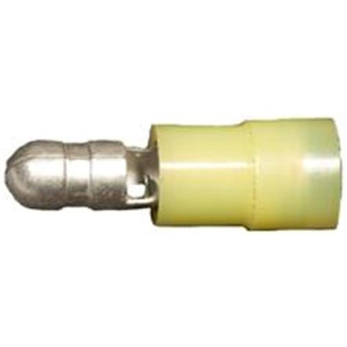 Morris Products 12058 Nylon Insulated Double Crimp Bullet Disconnects - 12-10 Wire,.197 Bullet, Pack Of 100