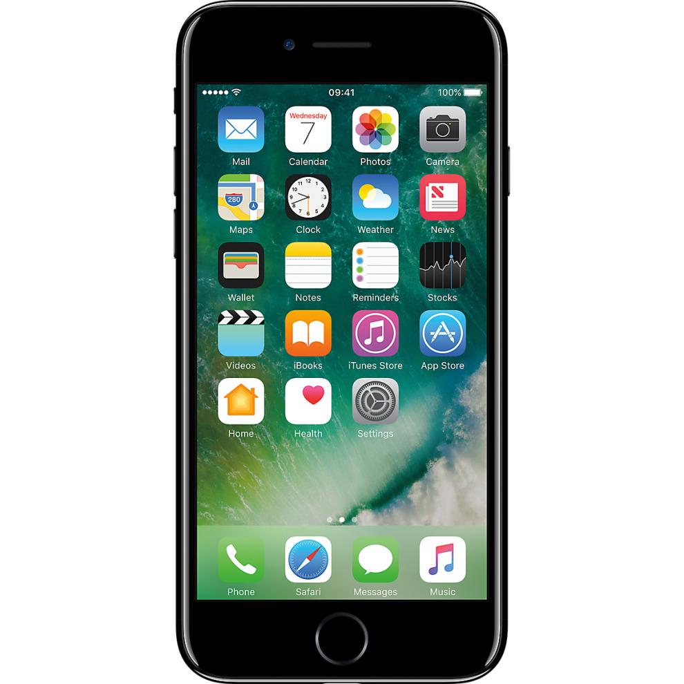 Three, 32GB Apple iPhone 7 - Jet Black