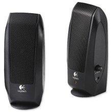 Logitech S120 Speakers with Headphone Jack and 3.5mm Plug - Black