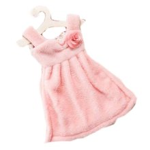 Toilet Princess Skirt Wipes Towel Hanging Strong Water Absorption Towel, Pink