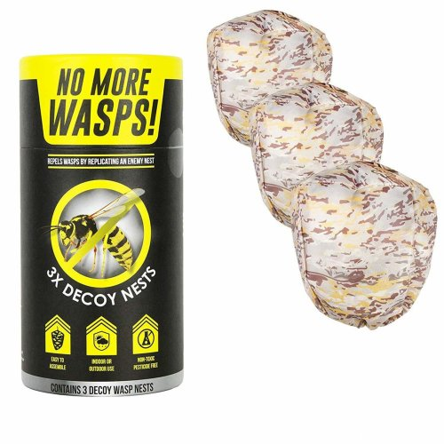 The World's Best Wasp Deterrent - Repel Wasps with a Fake Nest (3 Pack of Decoy Wasp Nests)