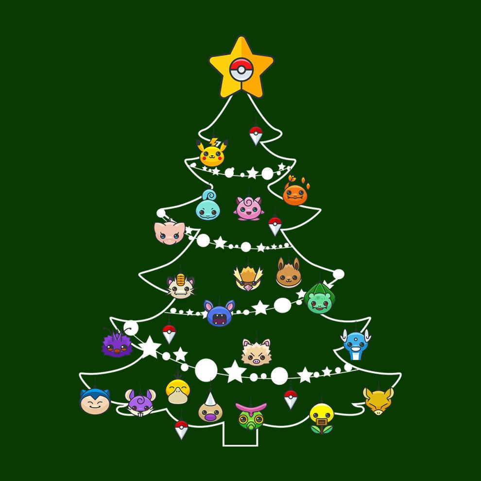 2f3e2944a Pokemon Bulbs Christmas Tree Men's T-Shirt on OnBuy