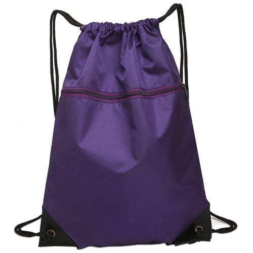 Drawstring Bag Unisex Gym Bag Sport Rucksack Shoulder Bag Hiking Backpack #3