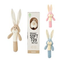 Wooly Organic Bunny Soft Rattle Toy