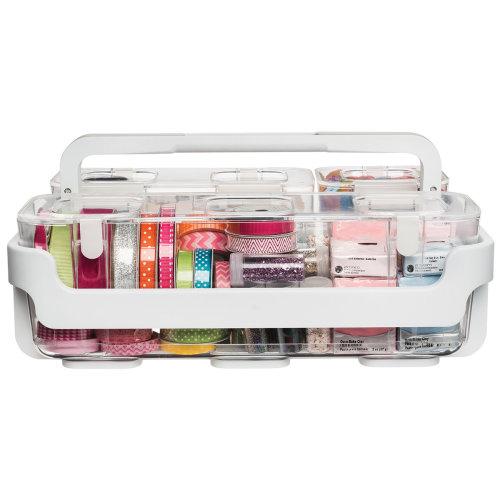 Caddy Organizer W/Small, Medium & Large Compartments-White